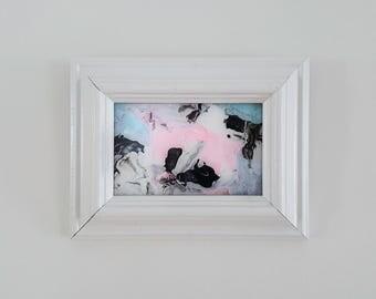 Original Contemporary Abstract Art - Framed Texture Painting Dreamy Wall Art