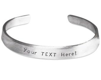Custom Stamped Cuff Bracelet - Personalized Bracelet - Customized Bracelet - Valentine Sweetest Day