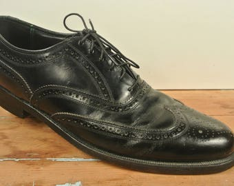 Florsheim Imperial Black Brogued Wing Tip Balmoral  Size: 9A