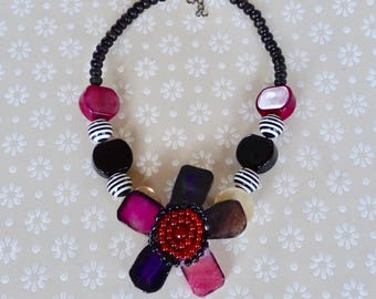 Chunky Necklace, Statement Necklace, Handmade, Wire Necklace