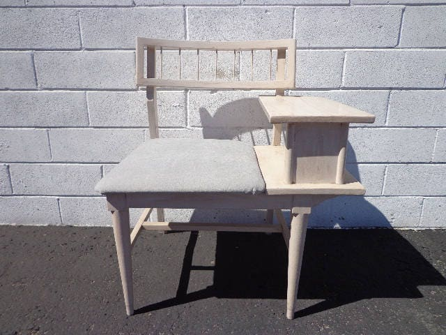Bench Entry Way Chair Table Mid Century Modern Gossip