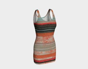 Orange Dress/Gray Dress/Striped Dress/ Bodycon Dress/Sleeveless Dress/Summer Dress/Made to Order
