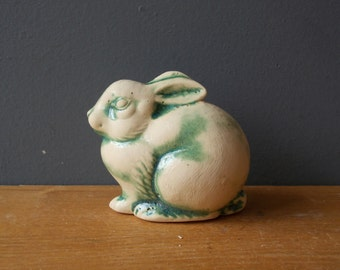 Vintage Ceramic HARE / Love Bunny / Miniature RABBIT