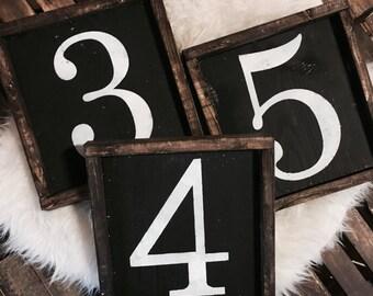 Family Number Sign / Family Number / Number Sign / Home Number Sign / Wood Sign / Home Decor / Number Wall Art