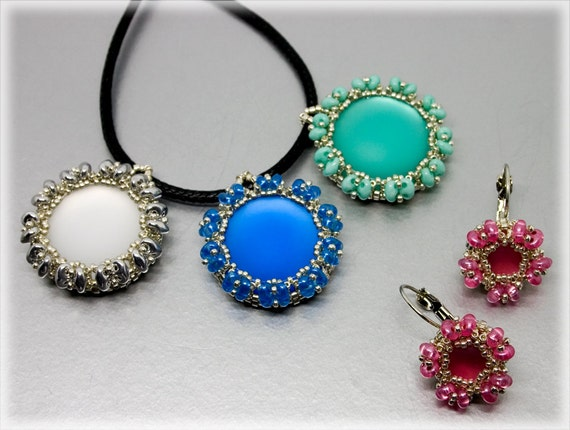 SoftColors pendant beading TUTORIAL