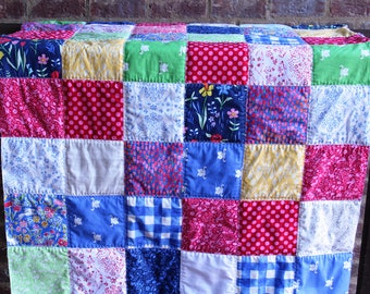 Sommer Baby or Toddler Size Quilt - Michael Miller Fabric