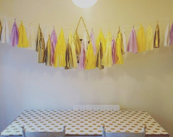 Ready made tassel garlands wedding birthday party baby shower sweet 16th hanging decorations  Pick your own colours 24 tassels