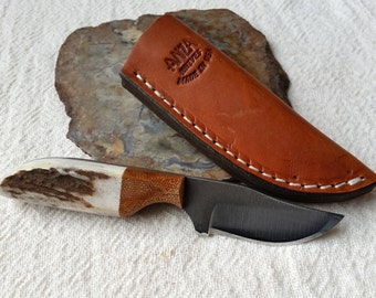 Quality Hand Made Knife,  Full Tang, Custom Name, Authentic Stag & Micarta Handle, High Carbon Steel Knives, Quality, ANZA