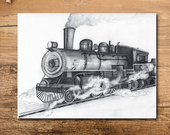 Train Nursery Decor - Train Art Print