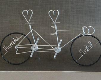 Miniature hearts Tandem bike