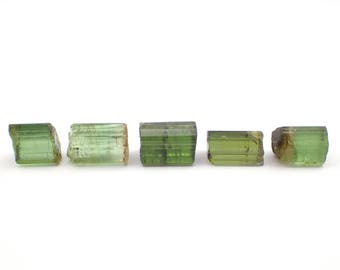 5 Green Tourmaline raw stone from Africa - 3.4gm / 7-10mm (PBP27)