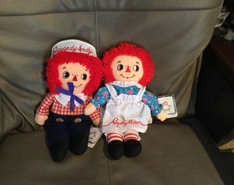 Raggedy Ann & Andy Applause 1981 Reproduction of the 1930's 12 Inch Dolls