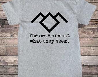 Black Lodge Owls Quote Peaks T-Shirt