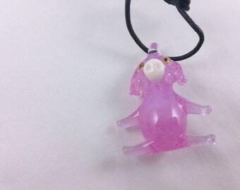 Pig (Pink Slyme) - Glass Pendant Necklace