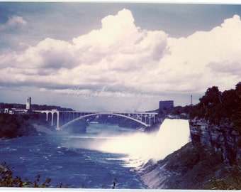 "Vintage 1940's ""retro"" Kodachrome Color Snapshot Photo ~ Niagara Falls in color"