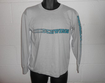 Vintage 80s 90s Schwinn Bikes Bicycles Long Sleeve T-Shirt Fits Small