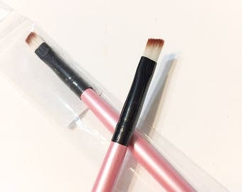 Pink Angled Tip Eye Brush - Eye Liner Brow Brush - Brush Sale
