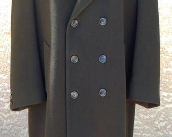 "Mid 70s/early 90s ""London Fog"" Fantastic Wool Guys' Coat — Size 44 Regular, Large"