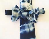 Indigo, necktie, Bow tie, swiss dot, polka dot, skinny tie, cotton, wedding, groomsmen, oxford, chambray tie, custom tie, mens tie, self tie
