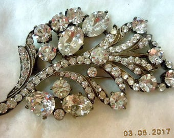 EISENBERG  ORIGINAL Sterling Fur Clip - 1940's - Mint Condition - RARE Statement Beauty -