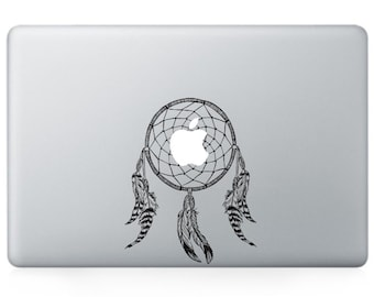 Macbook 13 inch decal sticker dream catcher and apple art for Apple Laptop