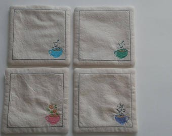 Adorable Handmade Fabric Tea Coasters
