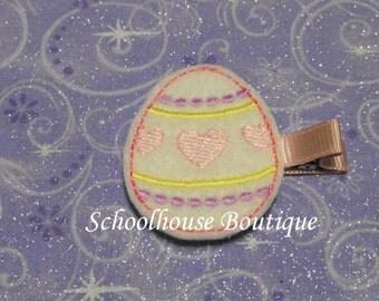 Easter Egg Felt Hair Clips, Easter Basket Filler, Feltie hair clip, Feltie, Felt Hair Clippie, Felt Hair Bow, Party favor
