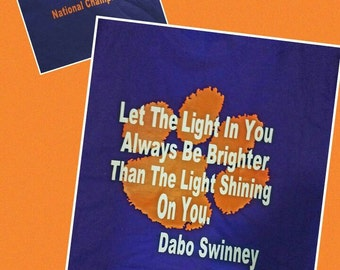 Clemson Tigers National Championship shirt with Dabo quote
