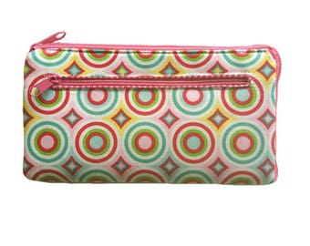 Large wallet ladies clutch zip wallet purse