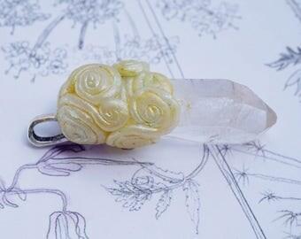 Fairy Swirl Crystal Pendant