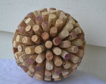 "Large Wine Cork Ball, Cork Starburst ( 9"")"
