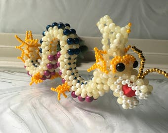 Hand Made Beaded Chinese Dragon