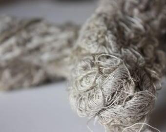 NEW***Chunky Recycled Handspun Natural Linen