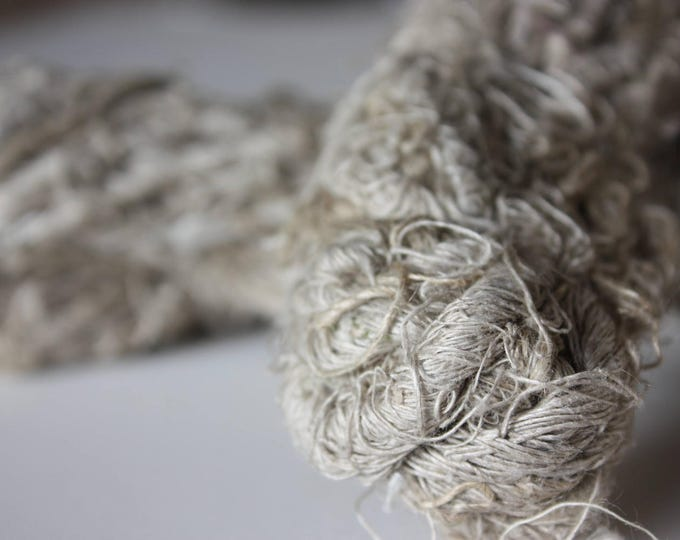 NEW***Chunky Recycled Handspun Natural Linen
