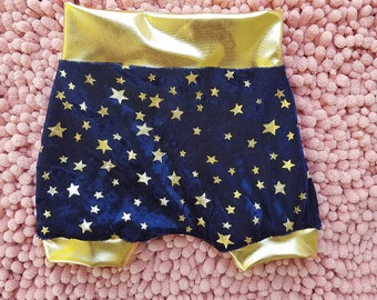 Gold star baby toddler girl shorts, gold star kids girls summer shorts, wonder woman like baby toddler kids girls shorts, wonder woman short