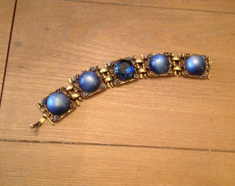 Vintage Blue Moonstone Bracelet - Moonstone Bracelet - Vintage Bracelet - Blue Moonstone Bracelet - Moonstone Bracelet