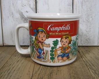 1993 Campbell's Soup Mug M'm! M'm! Good! Campbells Soup Kids in the Garden