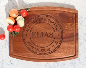 Cutting Board - Personalized Cutting Board - Walnut Cutting Board - Monogram Cutting Board - Wedding Gift - Housewarming Gift - Mother's Day