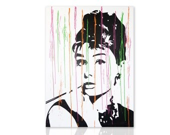 Modern painting Audrey Hepburn - Paintings on Canvas - Ready to Hang