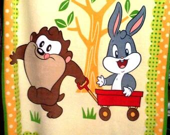 Bugs Bunny Taz Fleece Throw Looney Tunes
