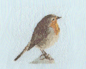 Cheerful Robin Cross Stitch Chart PDF ** Instant Download **