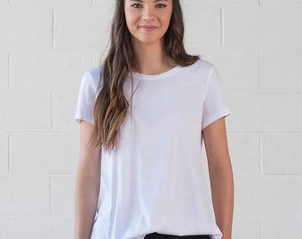 Organic Cotton White Tshirt - Geranium Tee