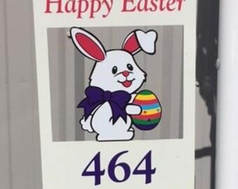 Custom Easter Bunny Sign