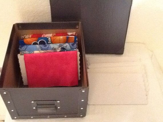 Fat Quarter Storage Boards Grey Box With A Set Of 20