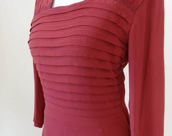 40's Dress. Raspberry Crush.