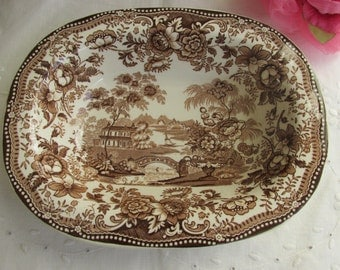 "Vegetable Bowl - ""Tonquin"" - Clarice Cliff - Royal Staffordshire - English Transferware - Vintage"