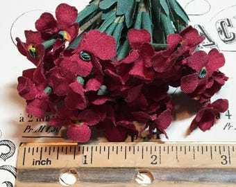 Deep red vintage millinery flower bunch