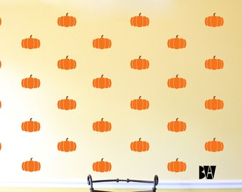 Small Pumpkin decals. Kitchen Decals. Halloween Wall Decals. Thanksgiving Decals. Livingroom wall decal. Wall sticker. Home Decor Decals.