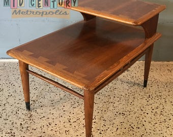 Mid Century Modern Lane 2 Tier End Table