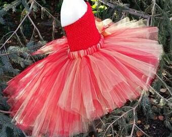 Pick Your Colors! High Low Tutu Skirt, TUTU SKIRT ONLY, High Lo Tutu, Red Gold Tutu, Adult Tutu, Valentines Day Tutu, Valentines Tutu